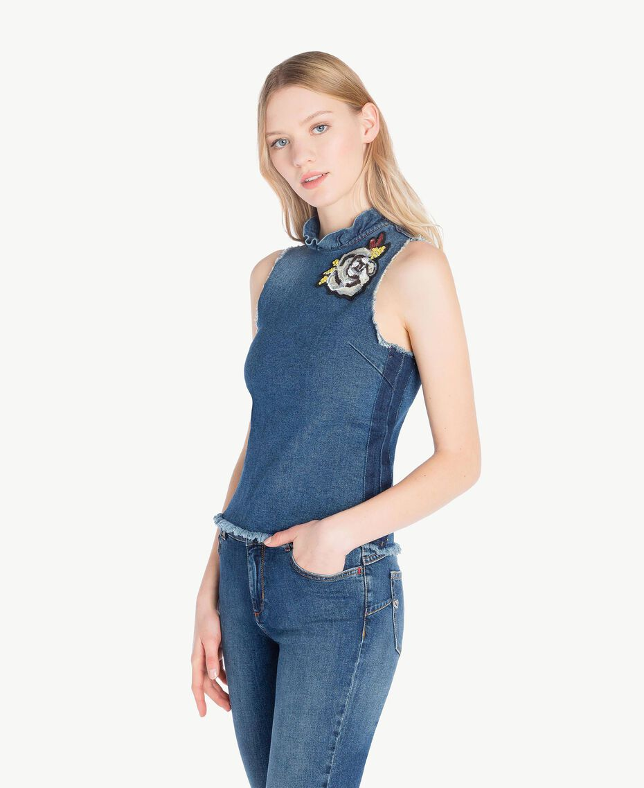 Denim top Denim Blue Woman JS82T3-02