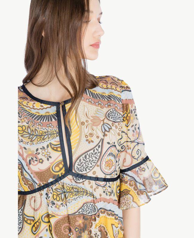 Langes Kleid mit Print Paisleyprint Frau SS82ME-04