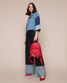 Рюкзак из стеганой искусственной кожи с шармами Красный Венецианский женщина 201MA7042-0T