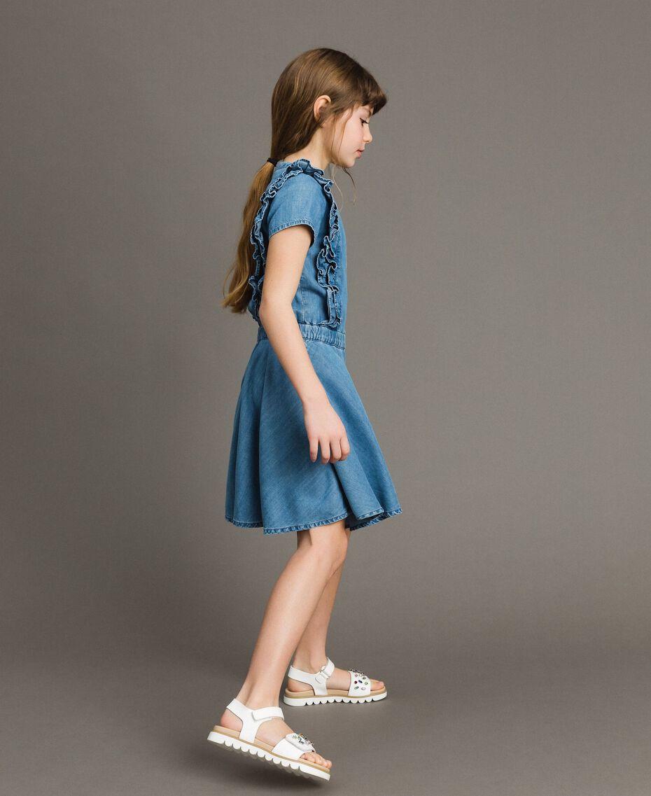 Jeanskleid mit Rüschen Soft Denim Kind 191GJ2562-02