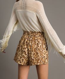 "Animal print shorts ""Petra Sandstone"" Brown Animal Print Woman 191LM2UJJ-03"
