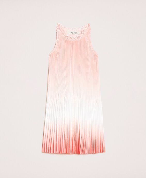 Fadeout pleated satin dress