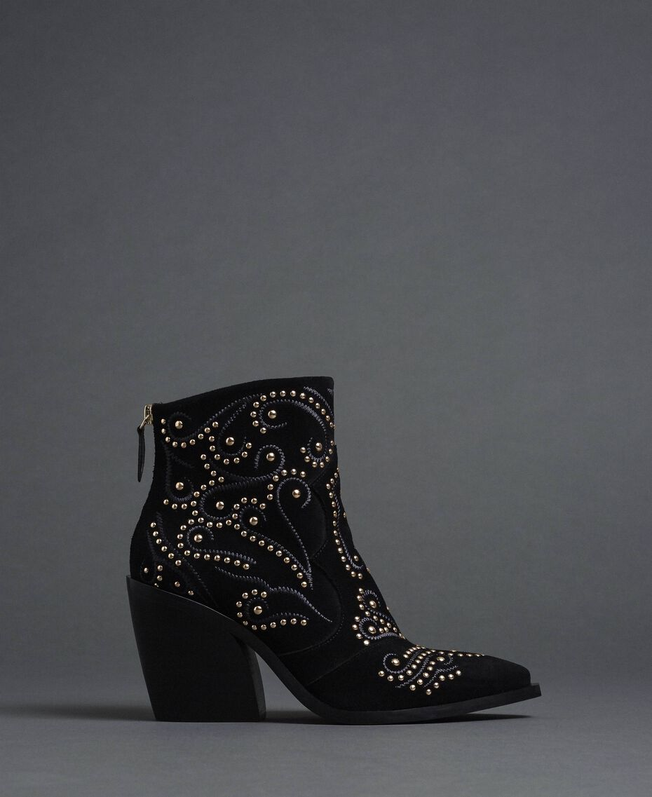 Studded ankle boots Black Woman 192MCP016-03