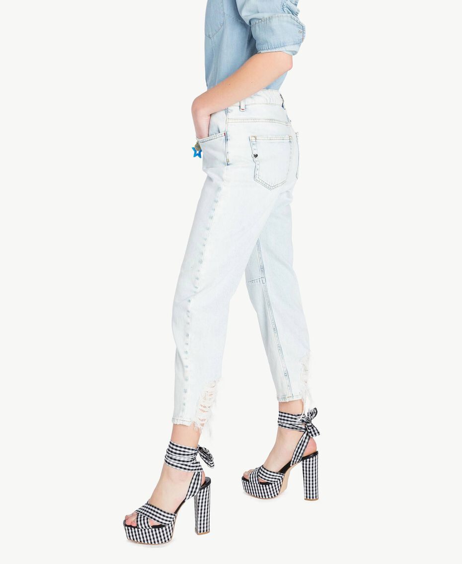 Girlfriend-Jeans Denimblau Frau JS82WR-02