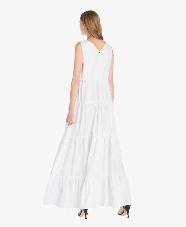 Long poplin dress White Woman TS821Z-05