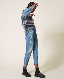 Regular jeans with rips Light Denim Woman 202MT2310-03