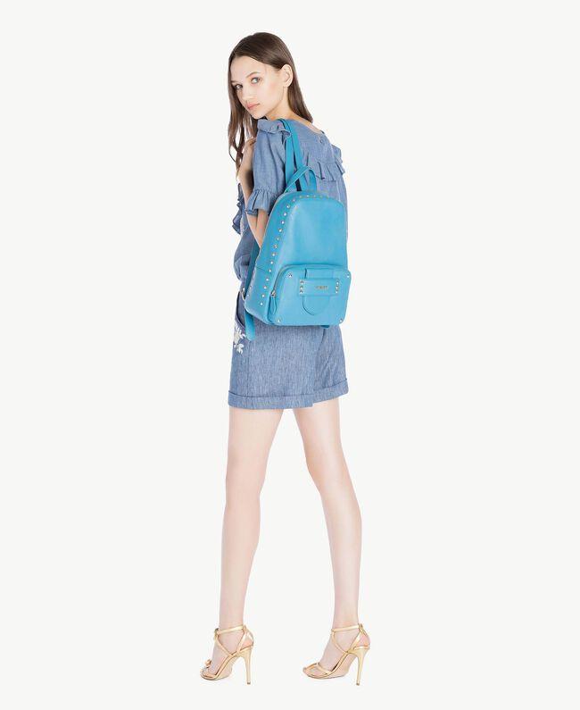 TWINSET Sac à dos clous Bleu «Gentiane» Femme OS8TBA-05