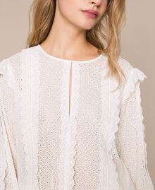 Блуза из кружева сангалло Белый Снег женщина 201TP2492-04