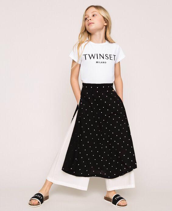 Polka dot trouser skirt