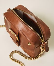 Small Rebel shoulder camera bag Leather Brown Woman 202TB723R-05