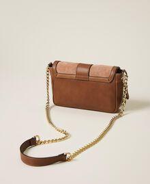 Petit sac à bandoulière Rebel en cuir lisse et cuir velours Multicolore Nude / Rouge Cerise / Cuir Femme 202TB7053-04