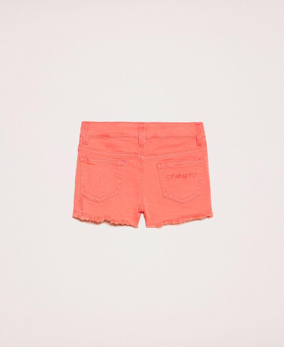Short avec accrocs Rouge «Calypso Coral» Enfant 201GB2031-0S