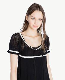 Robe coton Noir Femme TS83AN-04