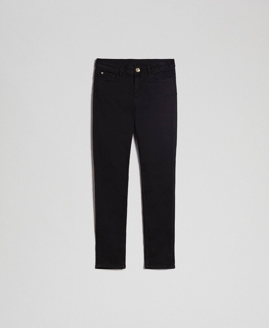 Skinnyhose im Five-Pocket-Stil Schwarz Frau 192MP2412-0S