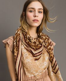 """Double pattern sarong """"Petra Sandstone"""" Brown Animal Print Woman 191LM4UBB-0S"""