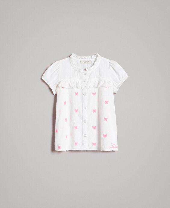 Plumetis shirt with butterflies