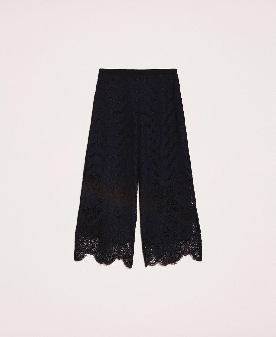 Macramé lace trousers Black Woman 201TP2033-0S