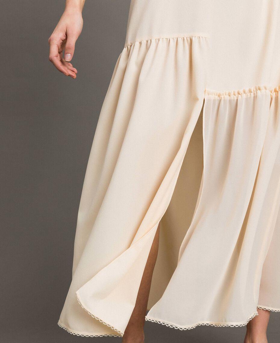 Crêpe de Chine slip dress with lace Dawn Woman 191ST2064-05