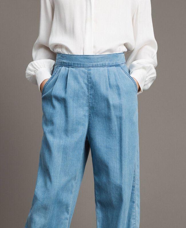 Pantalon en denim souple Jean Doux Enfant 191GJ2560-04