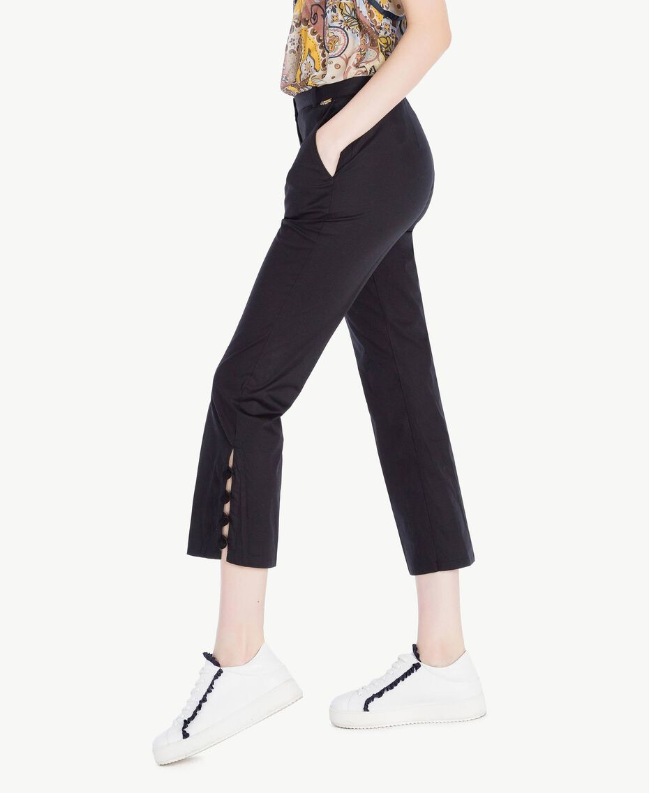 Pompom trousers Black Woman SS82JU-02