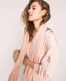 Écharpe avec imprimé cœurs et cercles Imprimé Coeurs Rose «Quartz» Femme 201MA4307-0S