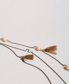 "Multi-string tassels necklace ""Rustic"" Brown Woman 191TA431K-01"