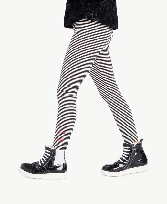 Striped leggings White Striped / Black Female GA7222-04