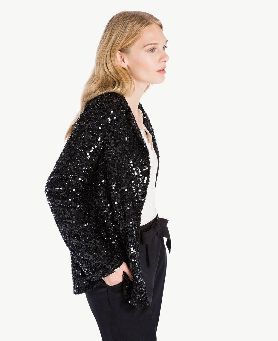 All over sequin jacket Black TA72KB-02