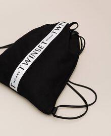 Sac à dos en toile avec logo Noir Femme 201TO8101-02