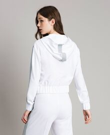 Sweatshirt with hood and zip White Woman 191LL25CC-04