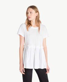 T-Shirt aus Jersey Weiß Frau TS821J-01