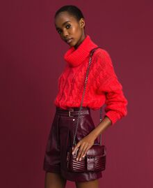 Small Rebel leather shoulder bag Beet Red Woman 192TA7237-0S