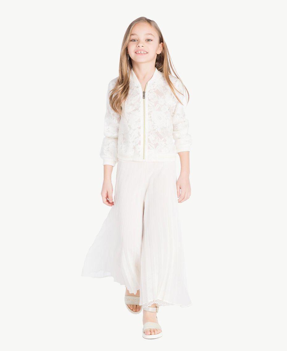 Silk bomber jacket Pale Cream Child GS8LD2-06