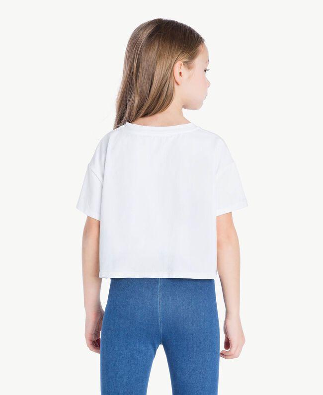 T-shirt Vichy Stampa Vichy/ Bocciolo Enfant GS82ZE-04