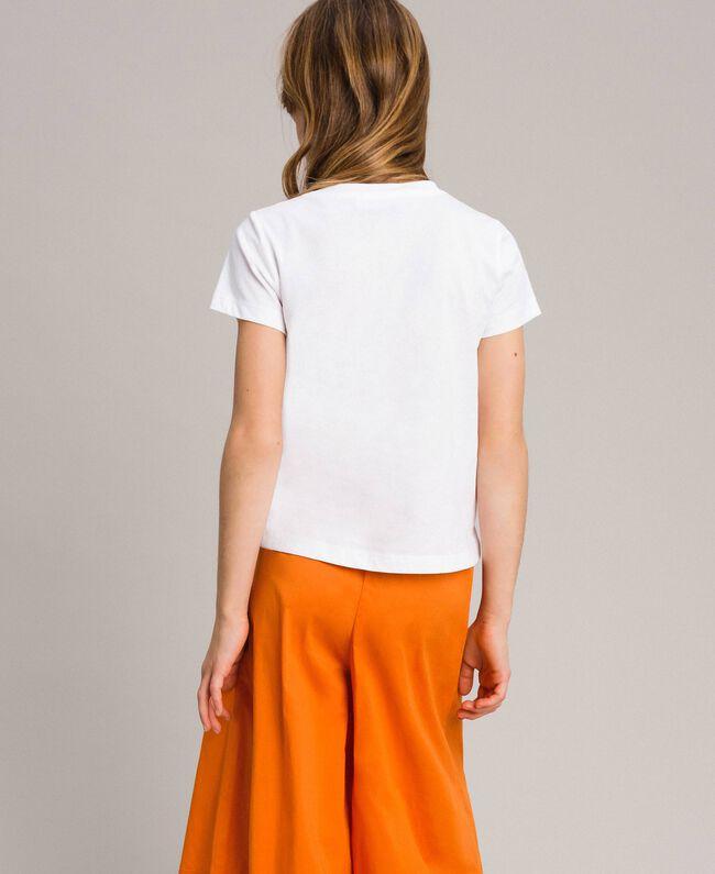 T-Shirt aus Baumwolle mit mehrfarbigem Aufdruck Weiß Kind 191GJ2320-03