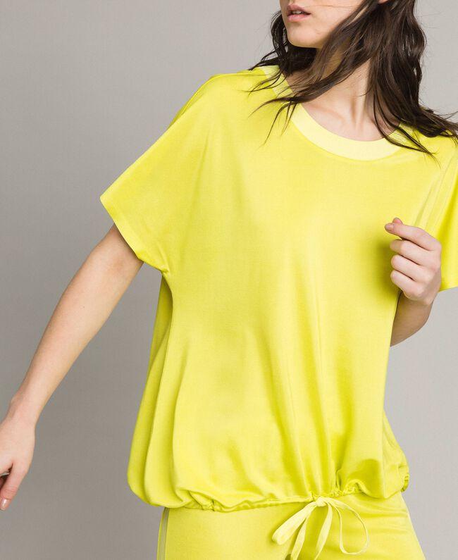 "T-Shirt mit Tunnelzug ""Lemon Juice"" Gelb Frau 191LL23GG-01"