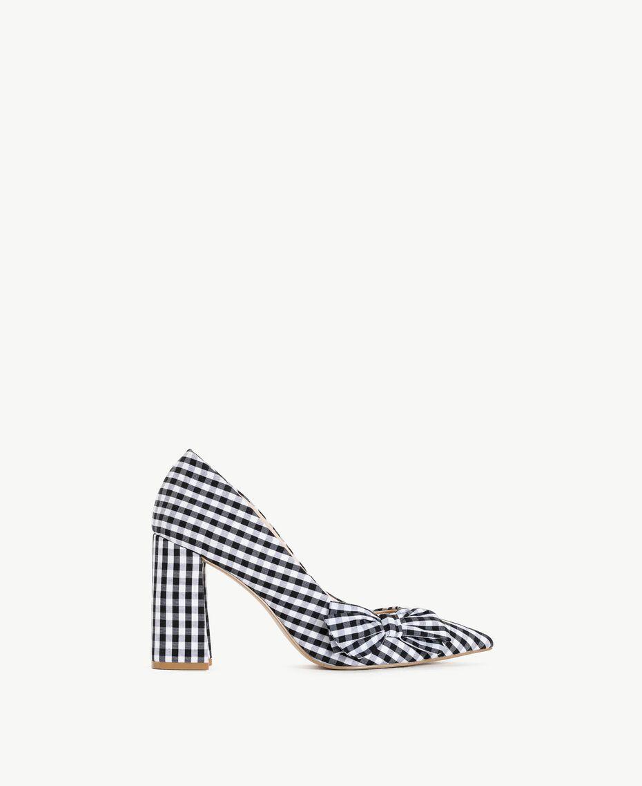 TWINSET Gingham court shoes Black Woman DS8PB3-01
