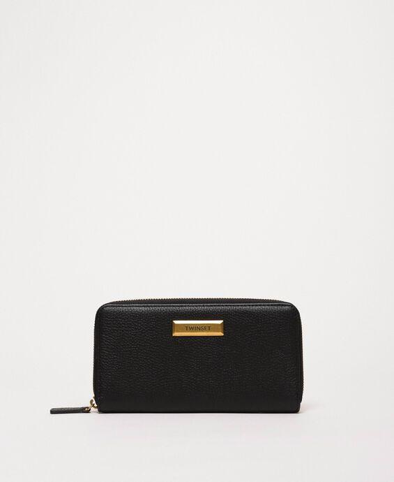 Portefeuille Bea Bag en cuir zippé sur le pourtour