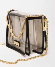 PVC Bea Bag with chain strap Grey Woman 201TO8200-04