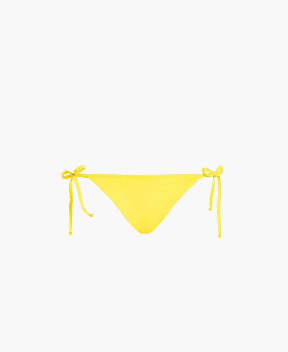 Brazilian-Bikinihose mit Schleifen Yellow Fizz Frau MS8B77-01