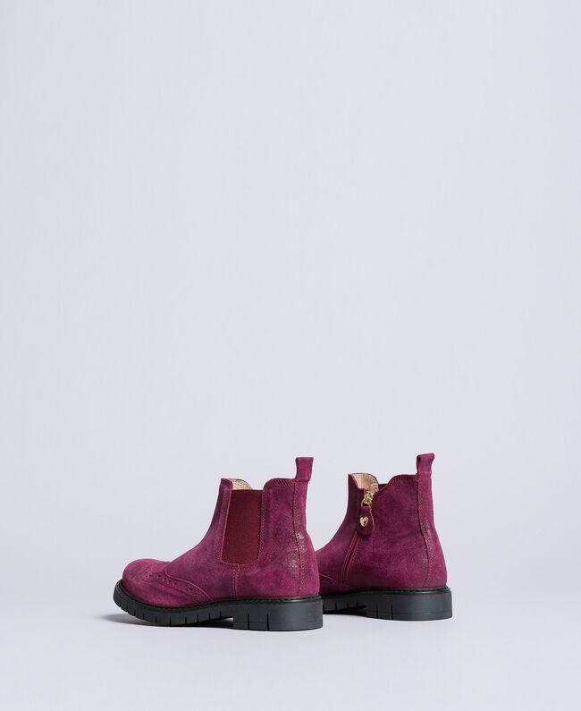"Beatle-Boots aus Leder in Glanzoptik ""Sweet Grape""-Violett Kind HA88EA-03"