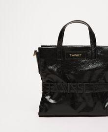 """Средняя кожаная сумка-шоппер с логотипом Розовый """"Джаз"""" женщина 201TO8091-01"""
