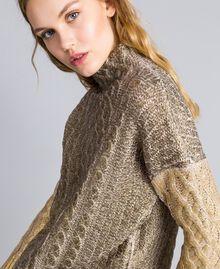 Maxi maglia laminata Bicolor Bronzo / Oro Donna TA831C-04