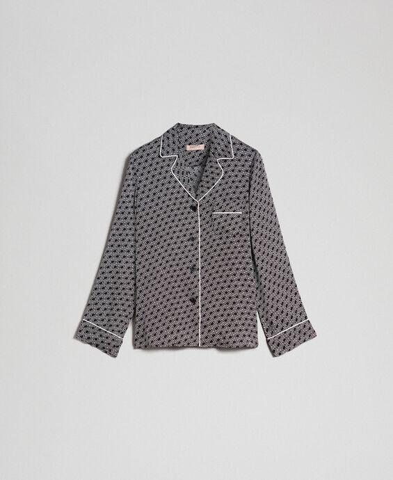 Twill shirt with logo print