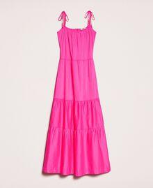 Long dress with flounces Shocking Pink Woman 201LM2AUU-0S