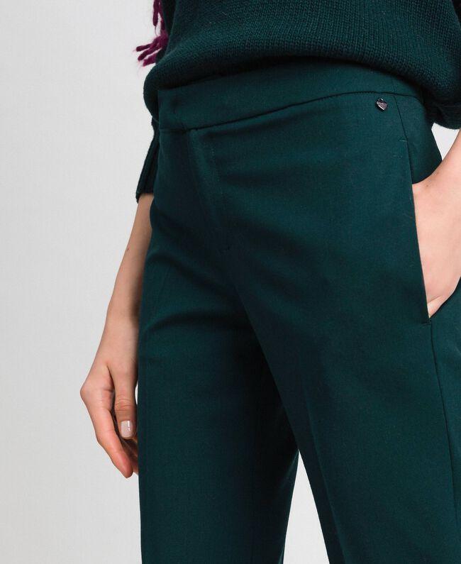 Pantaloni flare in lana Verde Dark Donna 192TP2353-04