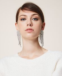 Ohrringe mit Strass und Perlen Kristall Frau 202TA4312-0T