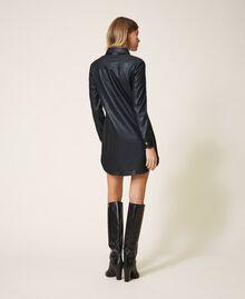 Faux leather shirt dress Black Woman 202LI2GEE-03