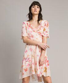 Robe en georgette à imprimé papillon Imprimé Papillon Rose Mixte Femme 191TT2394-01