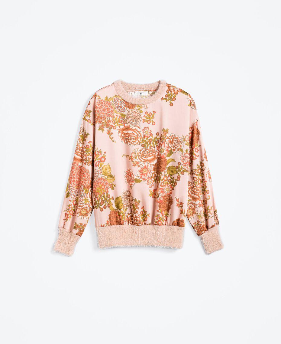 Блуза из твила с набивным цветочным рисунком Набивной Розовый Балетный Цветочный женщина LA8KPP-01